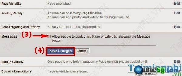 Hình 4- Chặn tin nhắn facebook