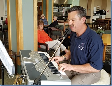 Former member, Peter Littlejohn, came along with his Korg Pa1X and entertained us with vocals and keys.