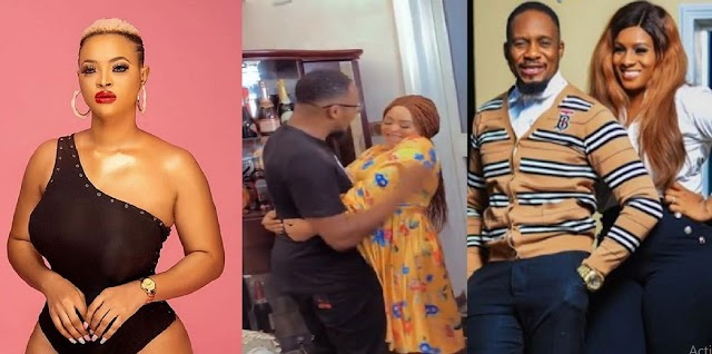 Nigerians React As Actress Angela Eguavoen Is Spotted K!ssing Junior Pope [VIDEO]