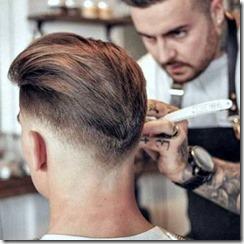 V shaped low fade mens haircut