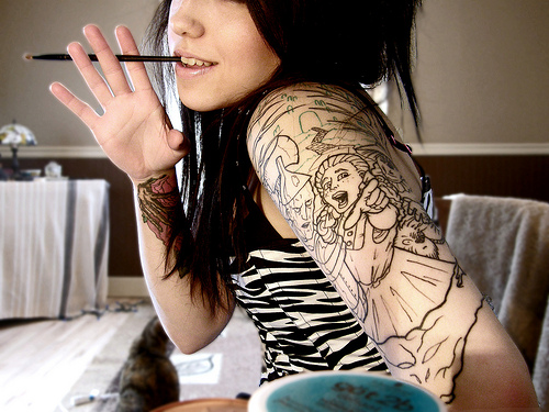 tattoo on arms for girls