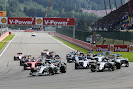 Start of the 2015 Belgian F1 GP