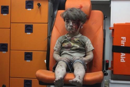 Aleppo airstrike Omran Dagneesh
