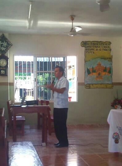 Fernando Diaz, District Missions Secretary, sharing about the role of intercession in church planting