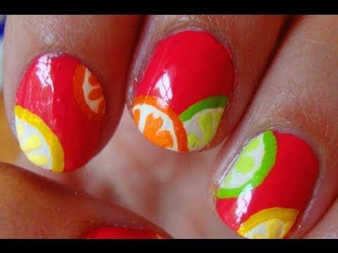 IN VOGUE CITRUS FRUITS NAILS ART TUTORIALS FOR LADIES 2