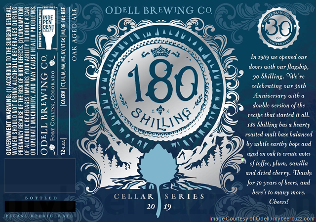 Odell 180 Shilling Returning To 2019 Cellar Series