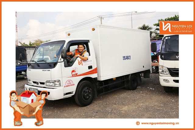 Xe tải chuyển nhà hiện đại