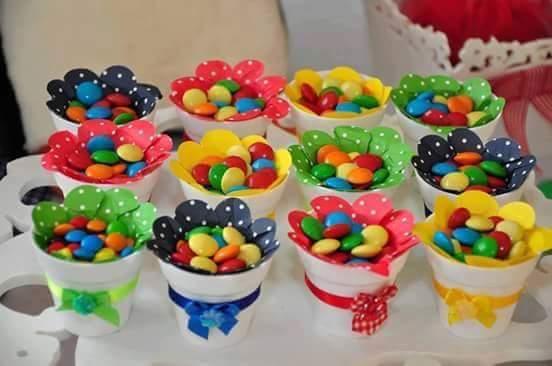 M s y m s manualidades dulceros de fiestas muy f cil de hacer for Decoracion del hogar facil y economico