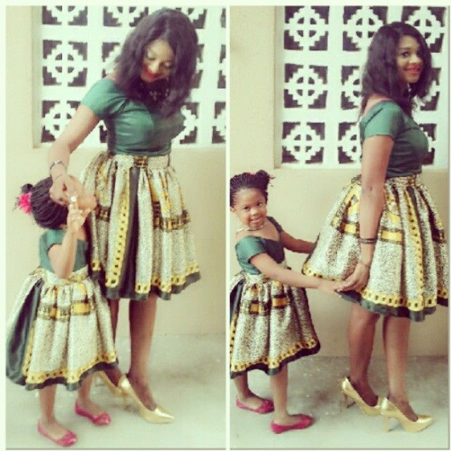 THE ENVIABLE ANKARA LADIES STYLES YOU SHOULD STEAL FROM MUM AND DAUGHTER IN 2018 3
