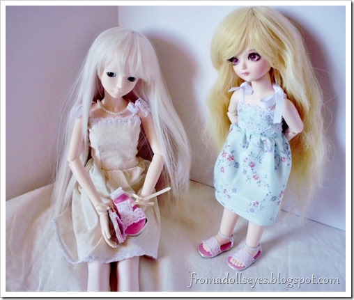 "Of Bjd Fashion: Improved Lace Sandals with a Tutorial: ""For me?"""