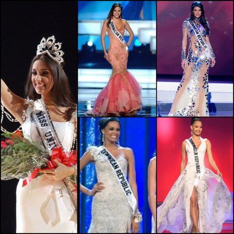 Solo cinco dominicanas han logrado entrar al top 5 en el Miss Universo