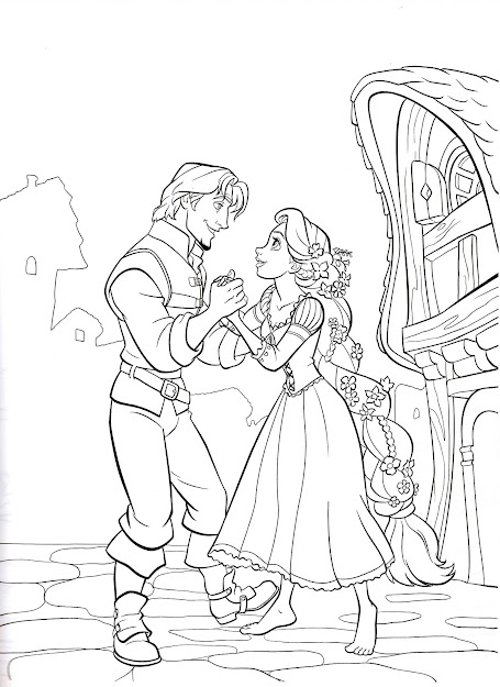 Download Rapunzel Coloring Pages