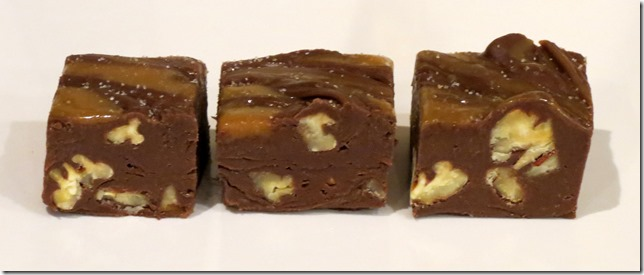 Salted Caramel Pecan Turtles Fudge