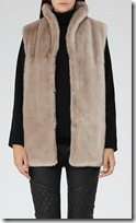 Reiss soft grey faux fur gilet