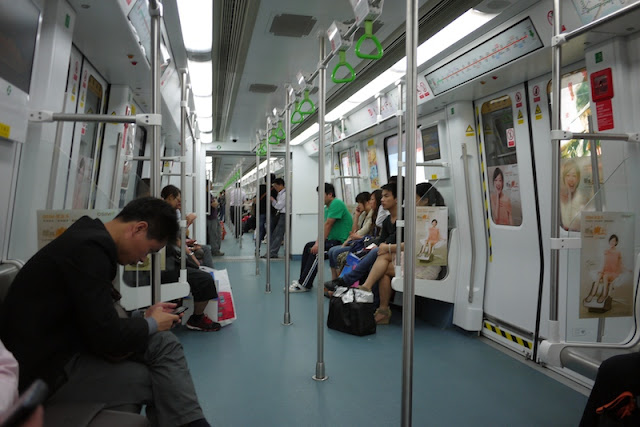 inside of subway car in Shenzhen