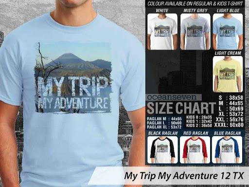 Kaos Wisata Indonesia My Trip My Adventure 12 distro ocean seven