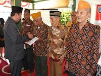 15 pejuang veteran perang menerima bantuan tali asih dari Bupati Rembang
