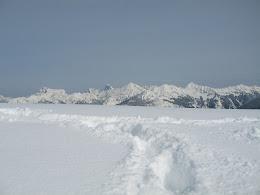 Deep powder. Looking north toward Canadian Cascades.