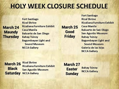 Holy Week at Intramuros