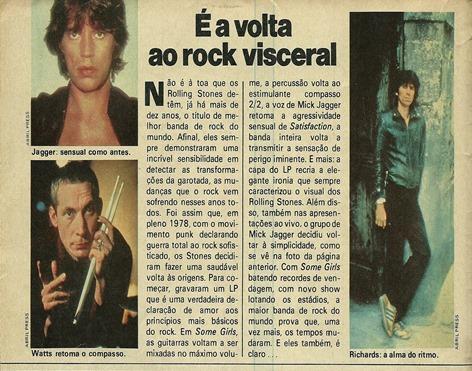 Rolling Stones, A maior banda do rock está voltando aos bons tempos - Pop 1978-10 - 02
