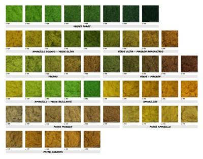 Carta de colores: Césped Electrostático 4 mm