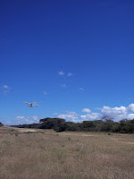 Taking off from Magambua on the way to Birise