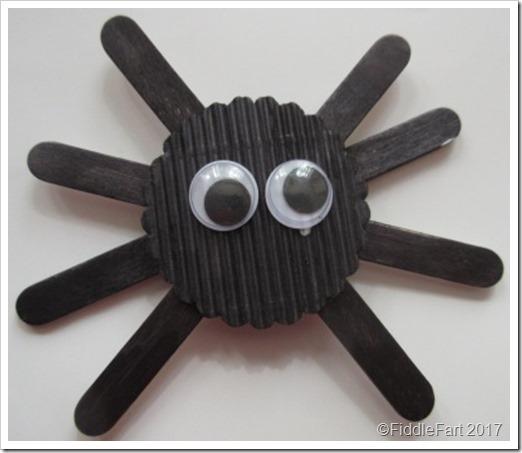 Popsickle Stick Halloween Spider 5