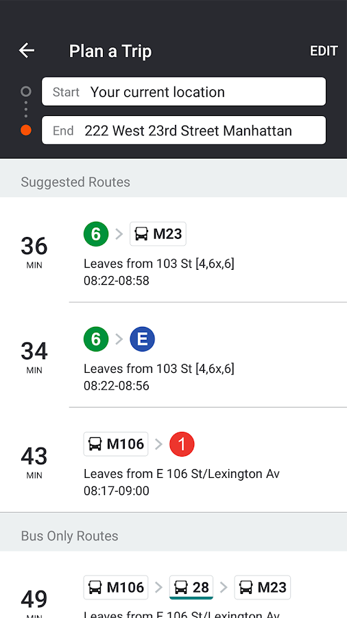 Screenshots of Moovit: Bus & Train Live Info for iPhone
