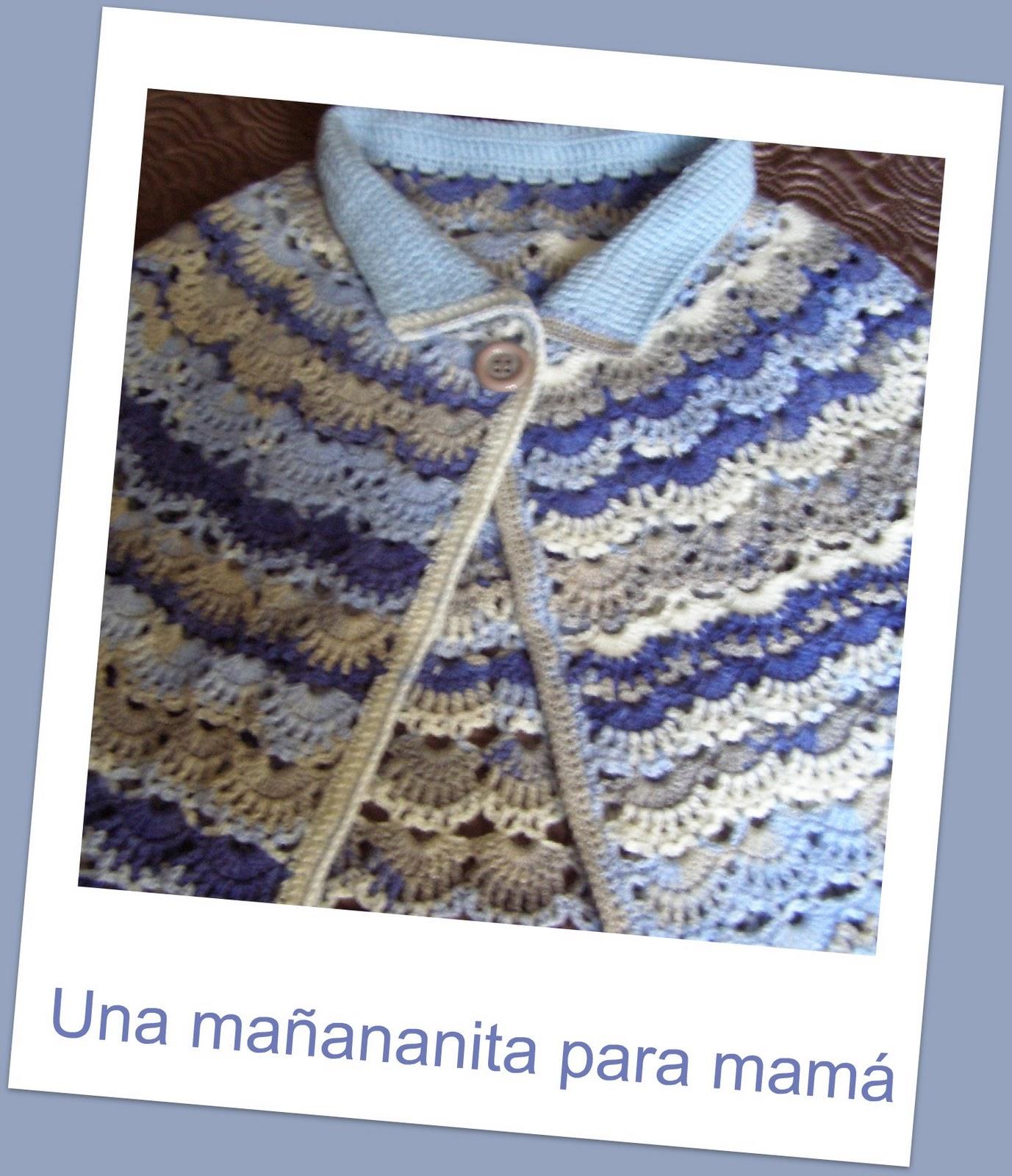 A Punto de Red . Patrones: Toca -Mañanita a crochet en tonos matizados