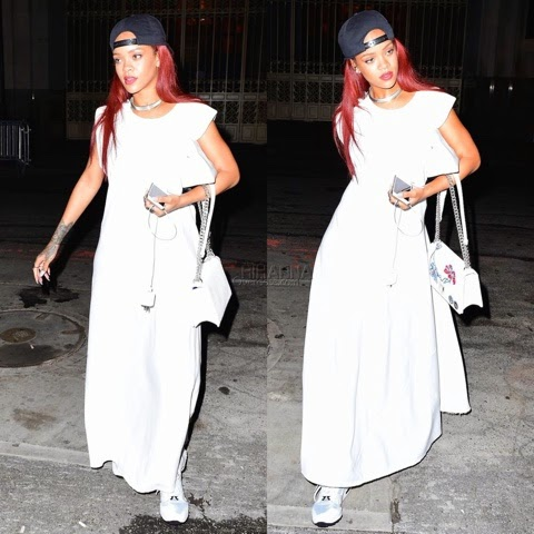 Rihanna spotted in Rag & Bone Patricia Maxi Dress