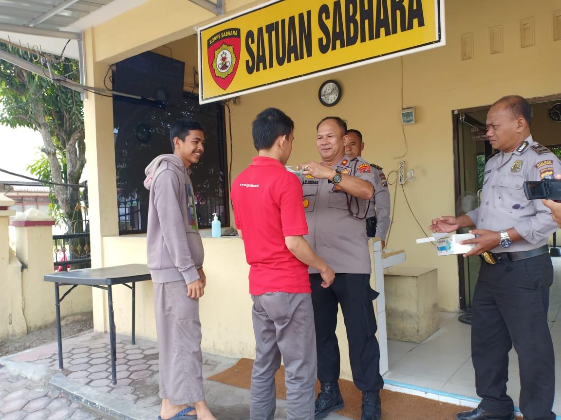 Polres Tanjung Balai Sosialisasi Antisipasi Virus Corona Covid19 dan Pemberian Masker