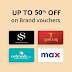 Upto 50% off on Gift Cards from Top Brands