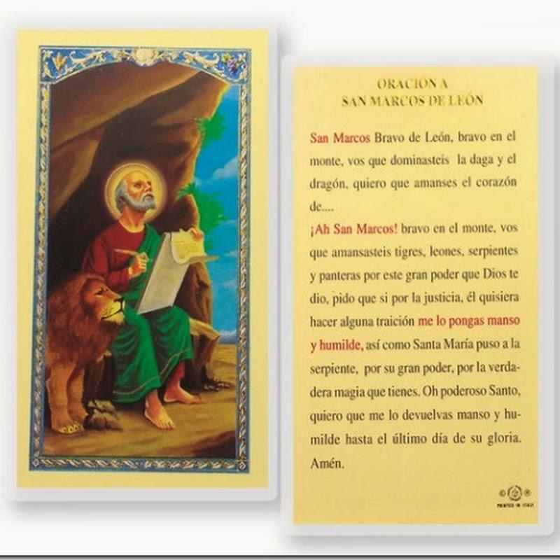 Oración a San Marcos de León para dominar