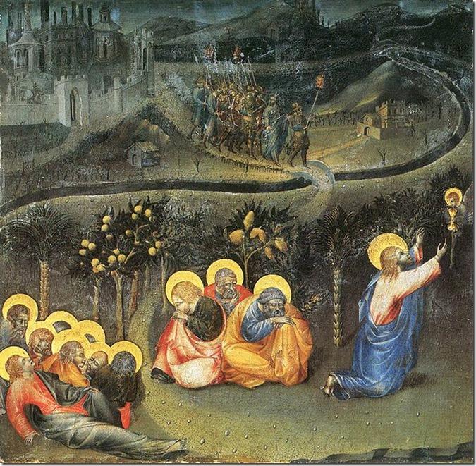 Gründonnerstag Gethsemane Giovanni di Paolo