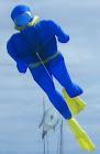 Diver novelty kite