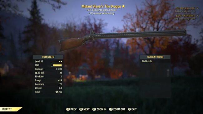 Fallout 76 ? So kommen Sie zum vierläufigen Dragon Gewehr (Waffen-Guide)