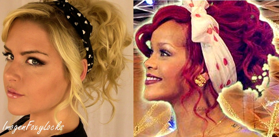 Hair Style In The 80s: Imogen Foxy Locks: Rihanna Inspired 80's Curly Up-Do Hair