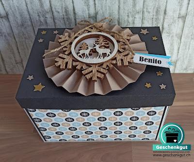 Geschenkbox Explosionsbox Überraschungsbox Geldgeschenk Gutschein Konzert Bühne
