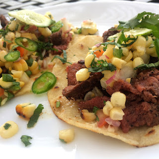 Elk Tacos with Grilled Corn Salsa.