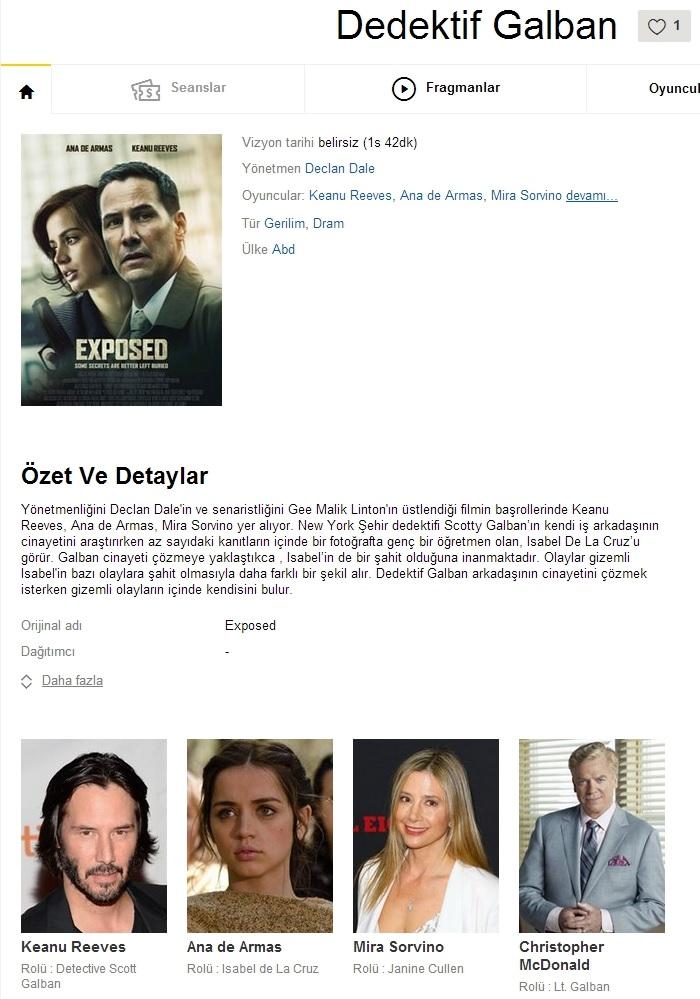 Dedektif Galban 2016 - 1080p 720p 480p - Türkçe Dublaj Tek Link indir