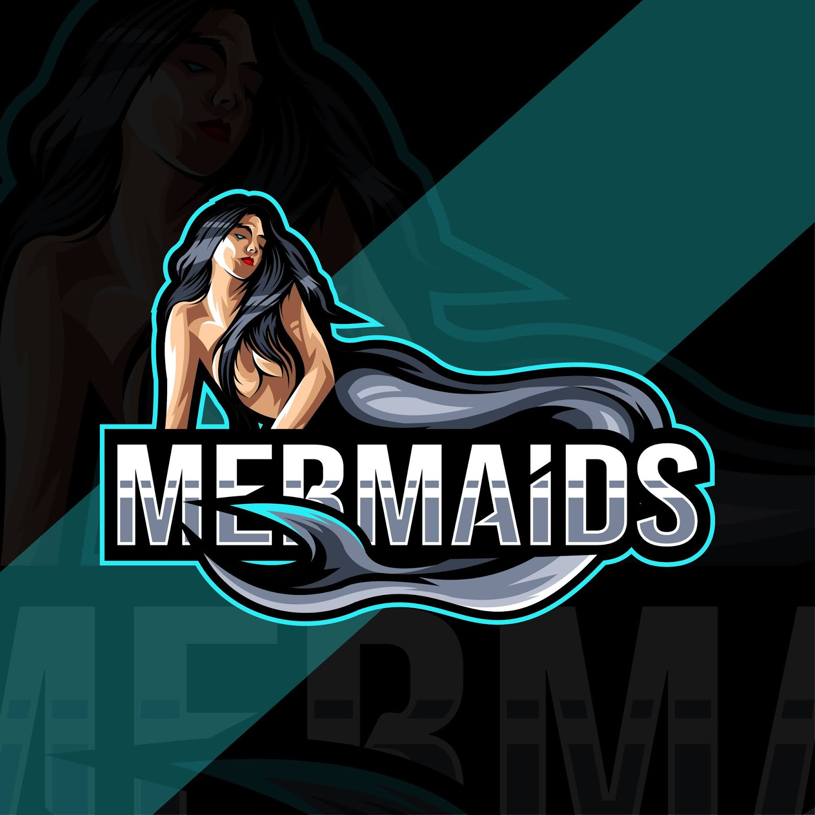 Mermaids Mascot Logo Esport Template Free Download Vector CDR, AI, EPS and PNG Formats