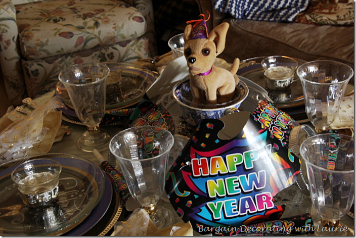 Centerpiece for Children's Table on New Year's Day