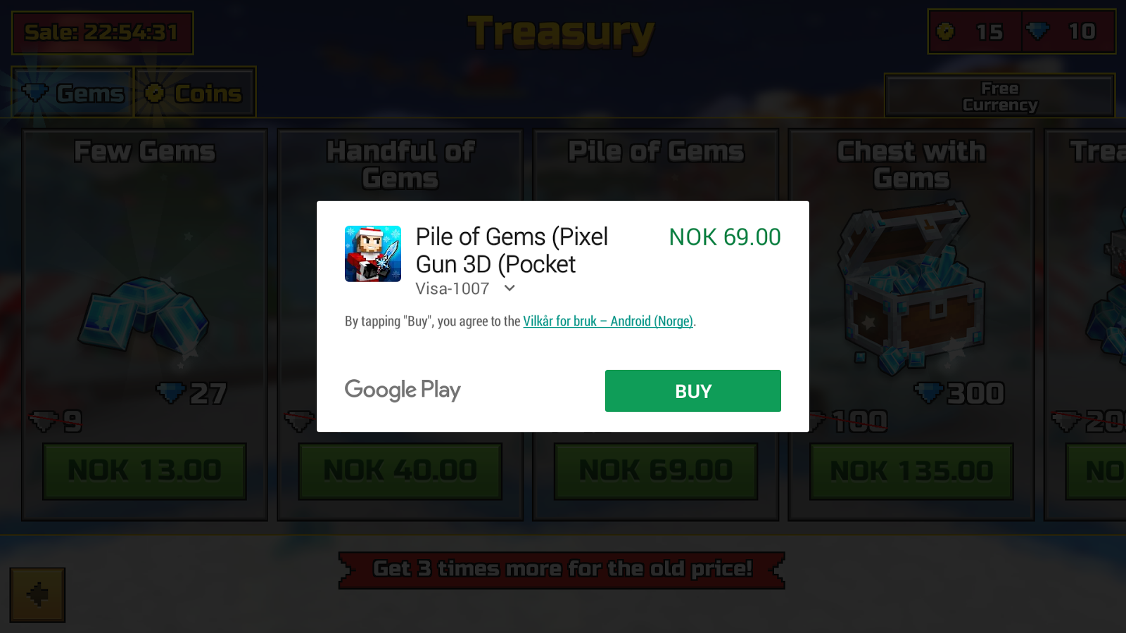 I can't make inapp purchases with Nox APP PLAYER - Google Play Help