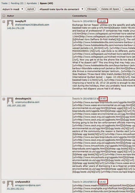 wordpress spam comments Anti SPAM comentarii Wordpress