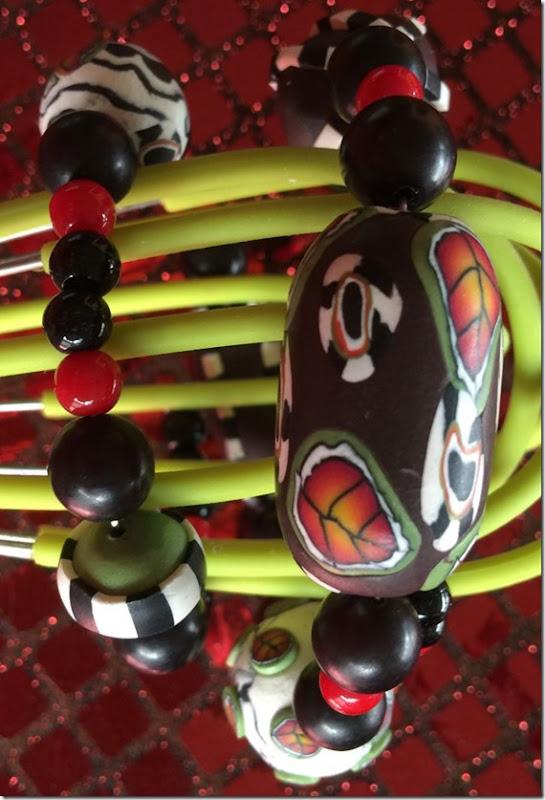 Bracelet displayed on wisk
