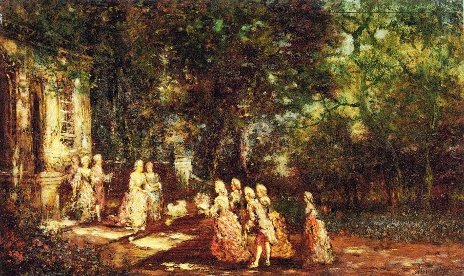 Adolphe-Joseph-Thomas Monticelli - Visit to a Princess