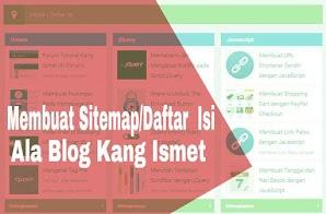 Membuat Sitemap/Daftar Isi Ala Blog Kang Ismet