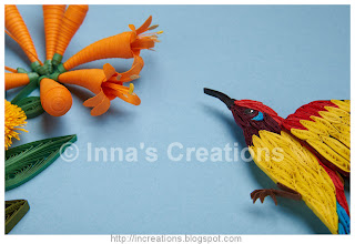 Quilled sunbird, detail