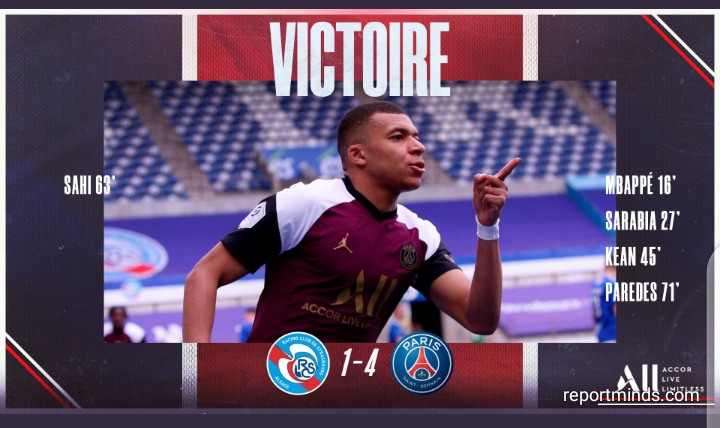 Ligue 1: PSG cruise pass Strasbourg as Kylian Mbappe continues goal scoring form (Highlights) 2020-2021