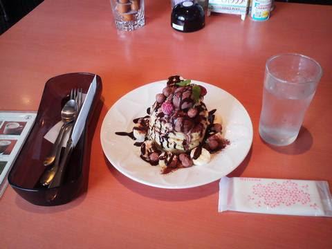 バースデーパンケーキ¥0 デニーズ一宮朝日店
